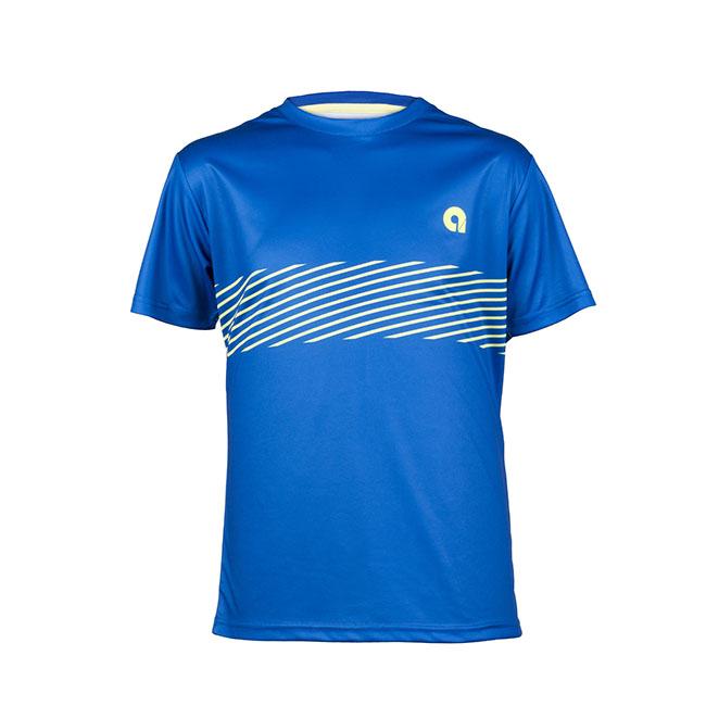 camiseta azul eléctrico padel