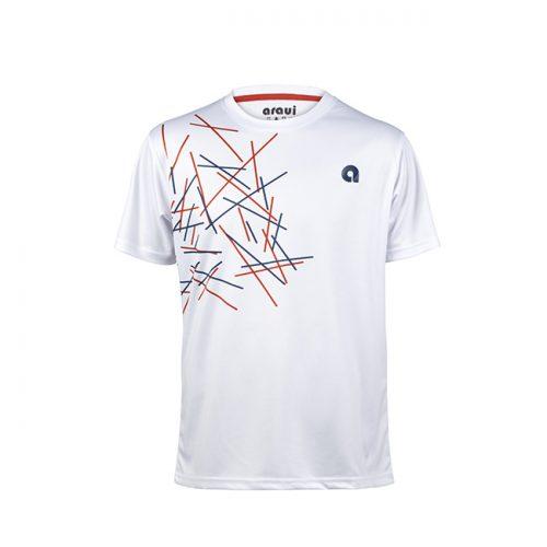 camiseta blanca con detalles