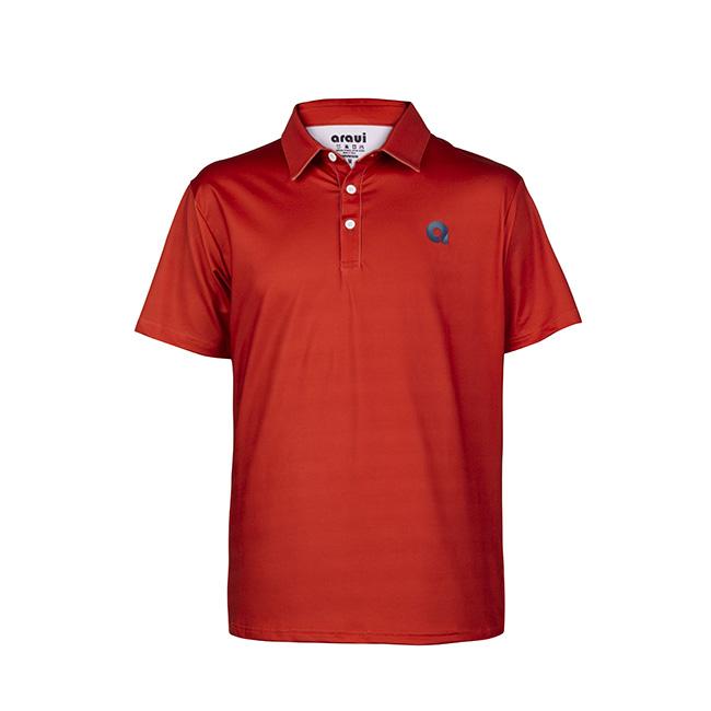 polo rojo para golf